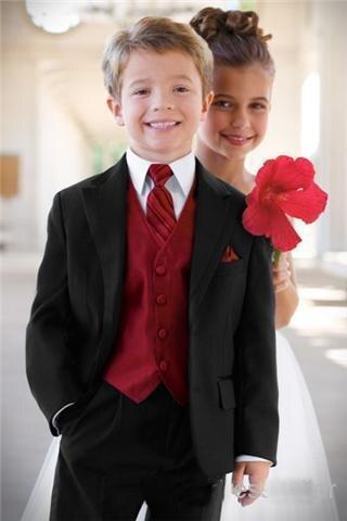 Schwarz Jungen Formalen Gelegenheit Kinder Hochzeitsanzug Jungen Kleidung Jungen Anzug Smoking/kid Notchd Revers Smoking/kinder Schwarz Anzüge Anzüge & Blazer