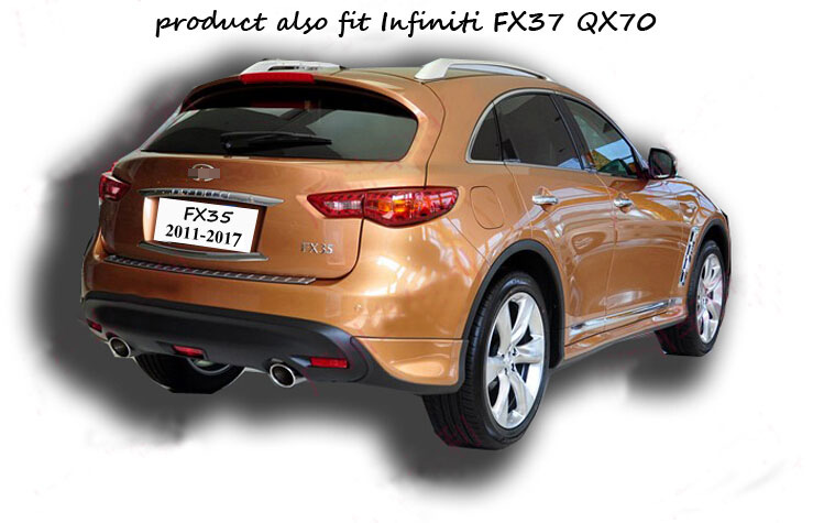 Rear Per Protection Sill Trunk Door Scuff Plate For Infiniti Fx Qx Fx35 Fx37 Fx50 Qx70 2009 2017 5years Old Er In Pers From Automobiles