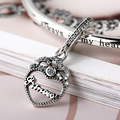 925 Sterling Silver Charms for Bracelets and Bangle Princess Crown Heart Pendant Elegant Jewelry DIY Beads as Gift for Women