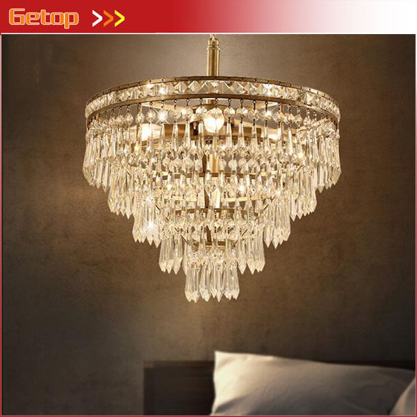 Modern American Crystal Pendant Light For Living Room Dining Room Restaurant Circular Crystal Lamp LED Fahion High quality modern crystal chandelier led hanging lighting european style glass chandeliers light for living dining room restaurant decor
