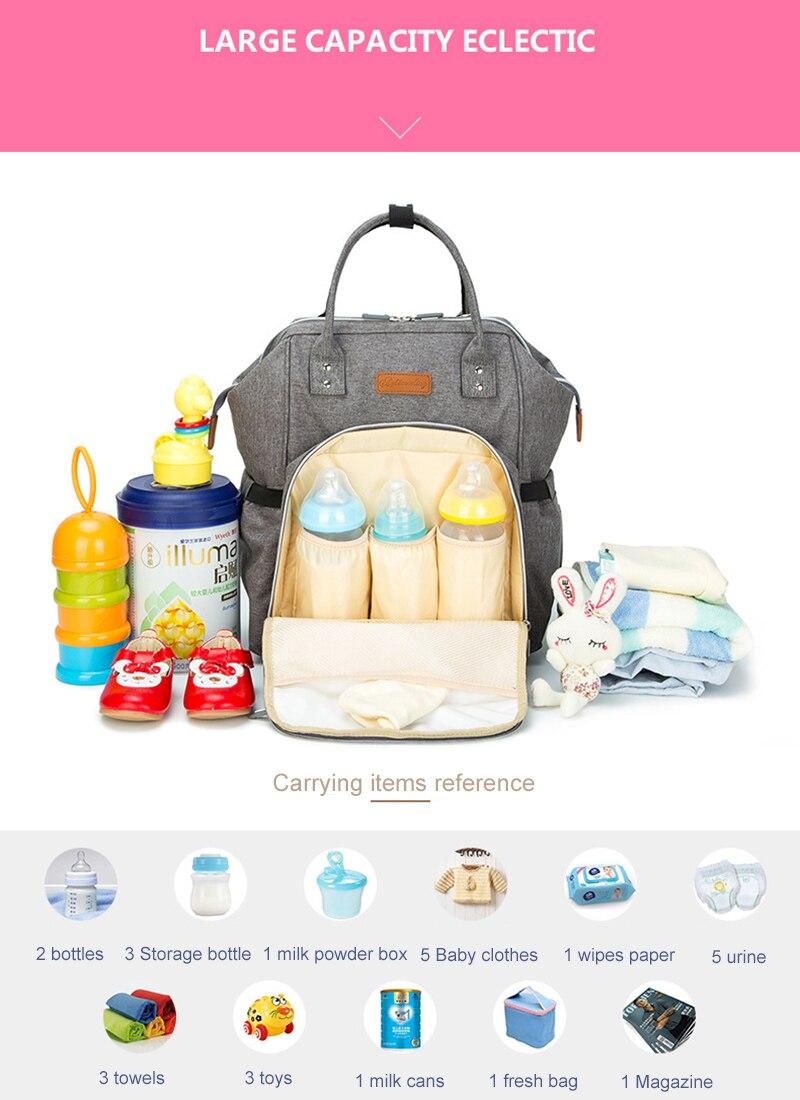 HTB1nm6agInI8KJjSspeq6AwIpXaI 23 Colors Fashion Mummy Maternity Nappy Bag Large Capacity Baby Diaper Bag Travel Backpack Designer Nursing Bag for Baby Care
