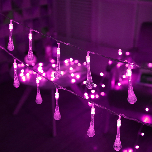 aliexpress com buy 2 5m 10 bulbs water drop string lights battery