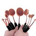 Овальные кисти для макияжа 10 шт./6 шт. овальная кисть набор кистей для макияжа, набор зубная щетка овальное зеркало для макияжа щетки Kwasten с коробкой