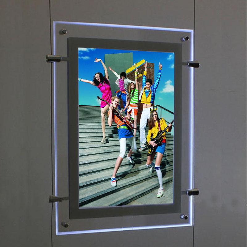 A4 portrait led light pockets
