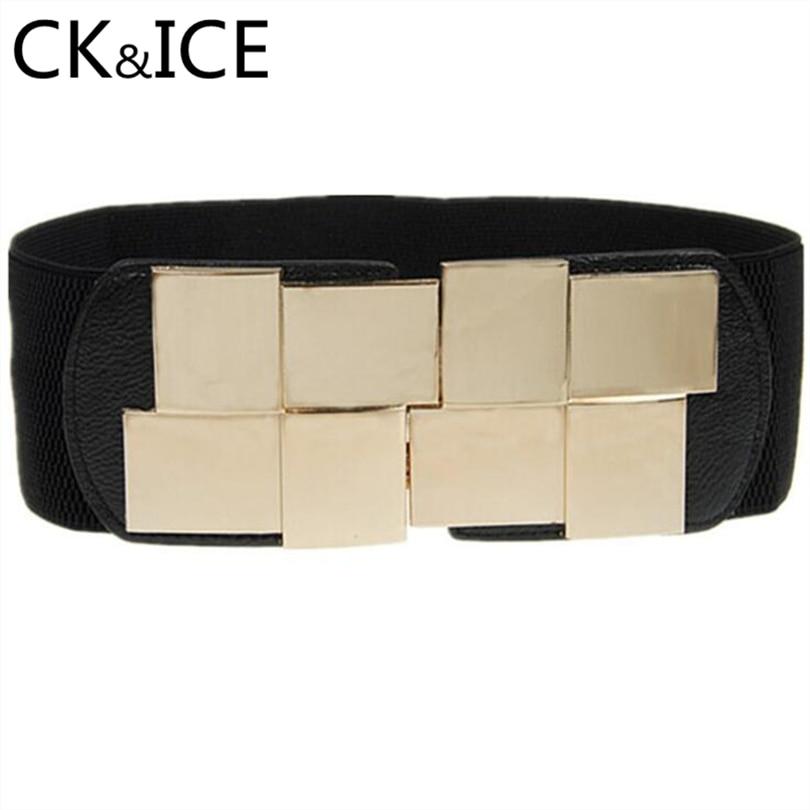 Apparel Accessories Ck&ice Luxury Casual Stretch Women Jeans Belts Casual Pin Buckle Unisex Fashion Belts Weave Elastic Belts Men Knitted Belt