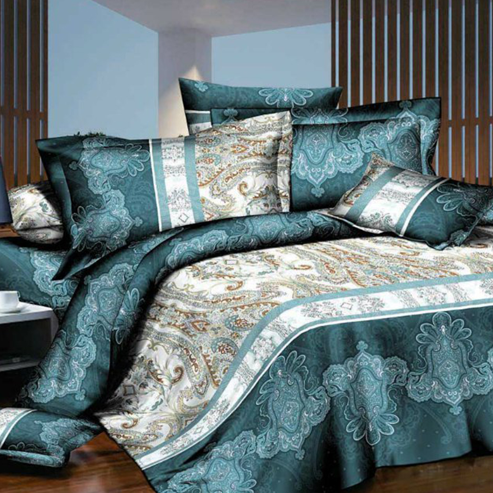 High quality down quilt 3d flowers bedding set high quality hd duvet cover pillowcase reactive print Breathability Home bedroomHigh quality down quilt 3d flowers bedding set high quality hd duvet cover pillowcase reactive print Breathability Home bedroom