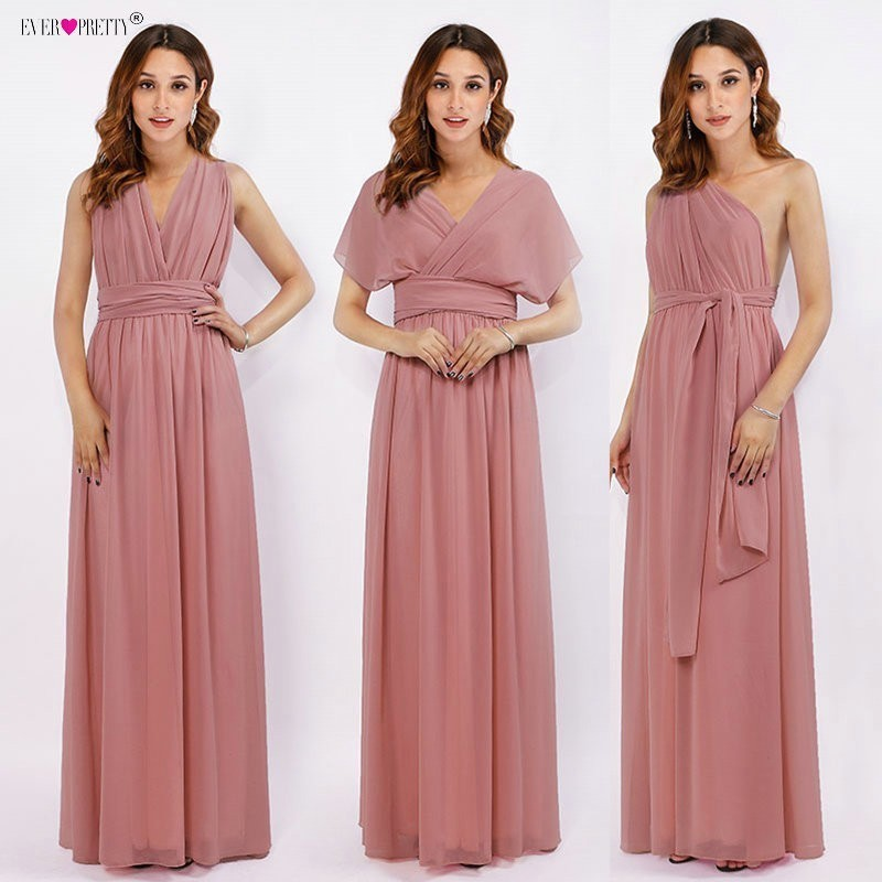 New Arrival Chiffon Long   Bridesmaid     Dresses   Vestido da dama de honra Multiway Wrap Convertible Wedding Party Gowns Ever Pretty