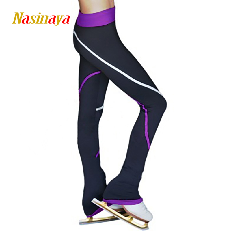 Customized Figure Skating Pants Long Trousers For Girl Women Training Competition Patinaje Ice Skating Warm Fleece Gymnastics 22