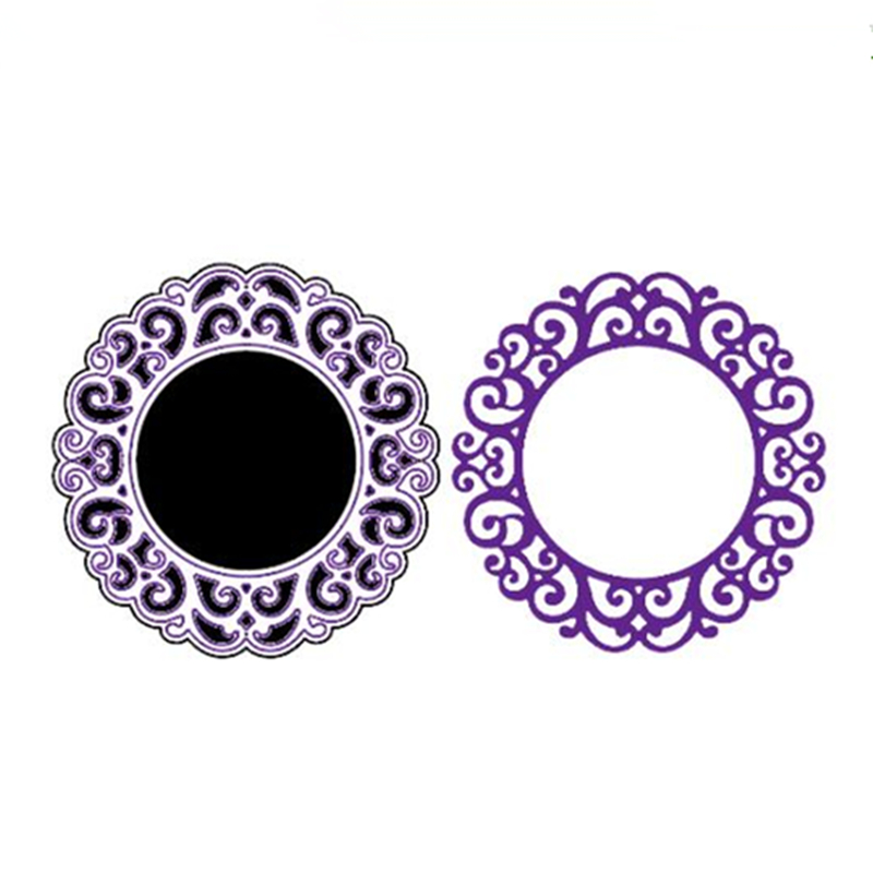 YLCD1194 Circle Cove Metal Cutting Dies For Scrapbooking Stencils DIY Album Cards Decoration Embossing Folder Die Cuts Tool Mold