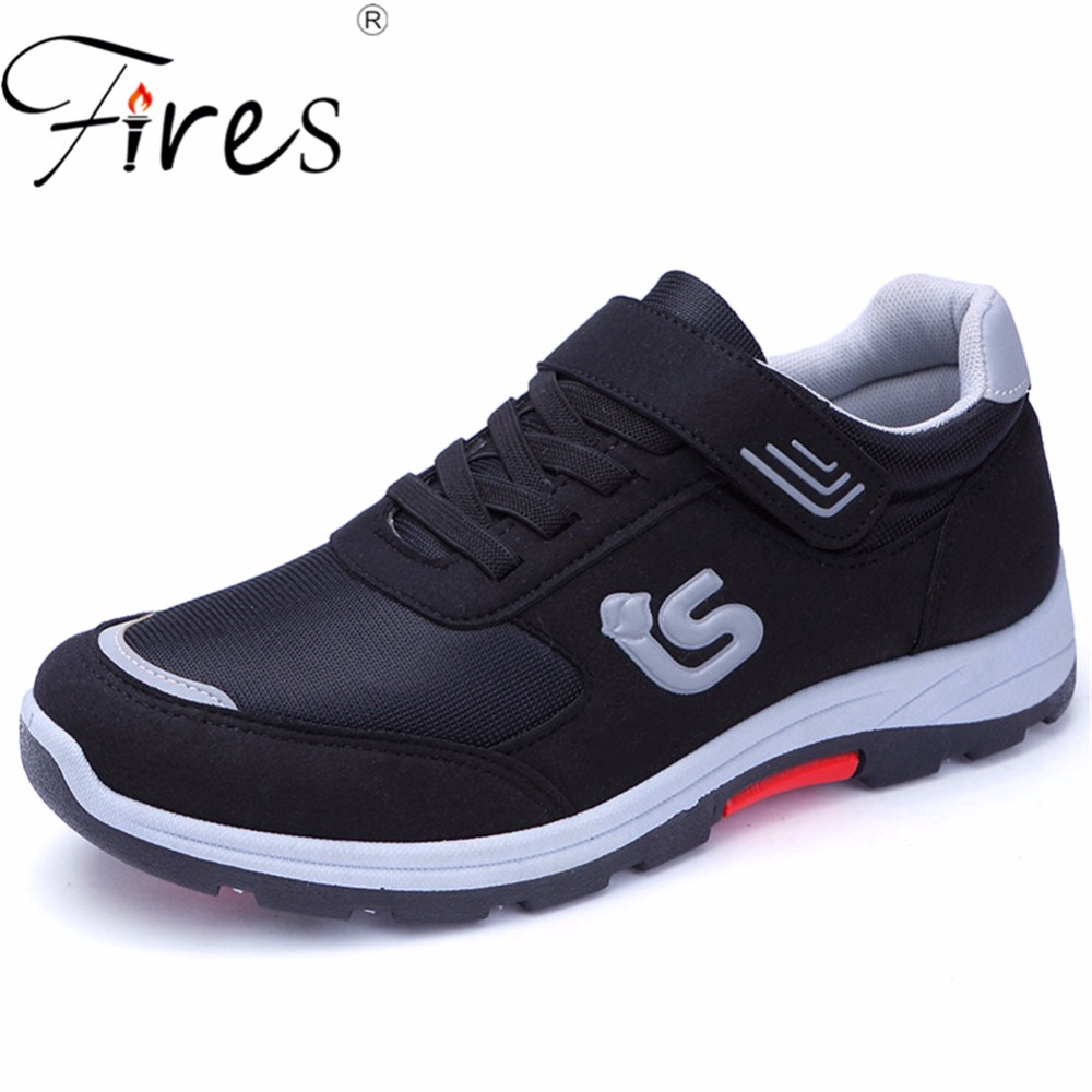 Fires Men Running Sneakers Two Kinds of Sport Shoes Lightweight Outdoor Walking Shoes Male Black Soft Blue Man Sneaker