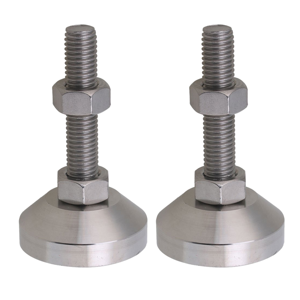 Stainless Steel 50mm Dia M12x50mm Thread Fixed Adjustable Feet For Machine Furniture Feet Pad Max Load 1.5Ton Pack Of 4
