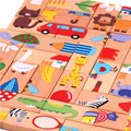 Cartoon Animal Pattern Wooden Domino Toys 28 pcs Children Standard Domino Kids Early Education Toys Free Shipping 11-213