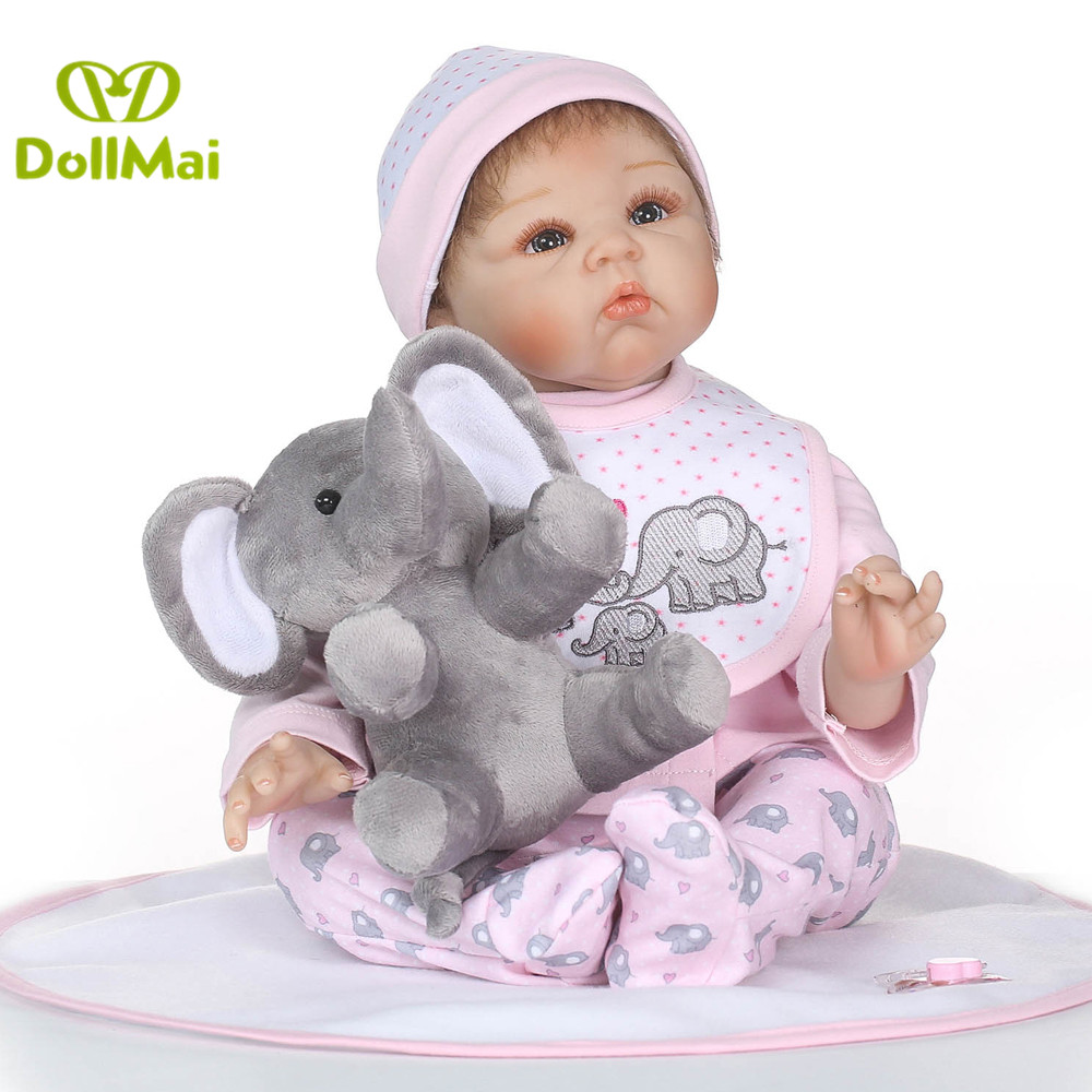 Doll reborn for sale 22 55cm silicone reborn baby dolls  real baby alive doll for children gift bebe boneca reborn menina Doll reborn for sale 22 55cm silicone reborn baby dolls  real baby alive doll for children gift bebe boneca reborn menina
