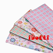 ibotti 4pcs/Lot 40*50cm Pink Floral Plaid Series 100% cotton fabric patchwork fabric Bundle tilda fabric for sewing Diy cloth