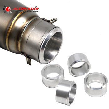 Alconstar- One Pcs 60mm Change to 51mm Motorcycle Exhaust Adapter Mild Steel Convertor Adapter Reducer Connector Pipe Tube Race
