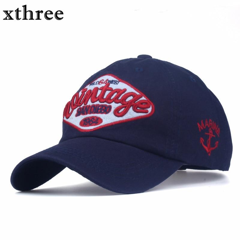Prix pour Xthree hommes casquette de baseball de coton snapback chapeau pour hommes femmes chapeau occasionnel casquette homme Lettre broderie gorras