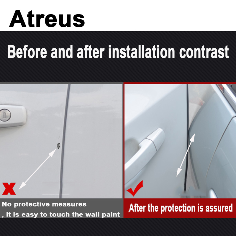 Atreus 3\5m Car Styling Door Crash Strip Stickers For Toyota Corolla Avensis RAV4 Yaris Auris Hilux Prius Tools Accessories universal pu leather car seat covers for toyota corolla camry rav4 auris prius yalis avensis suv auto accessories car sticks