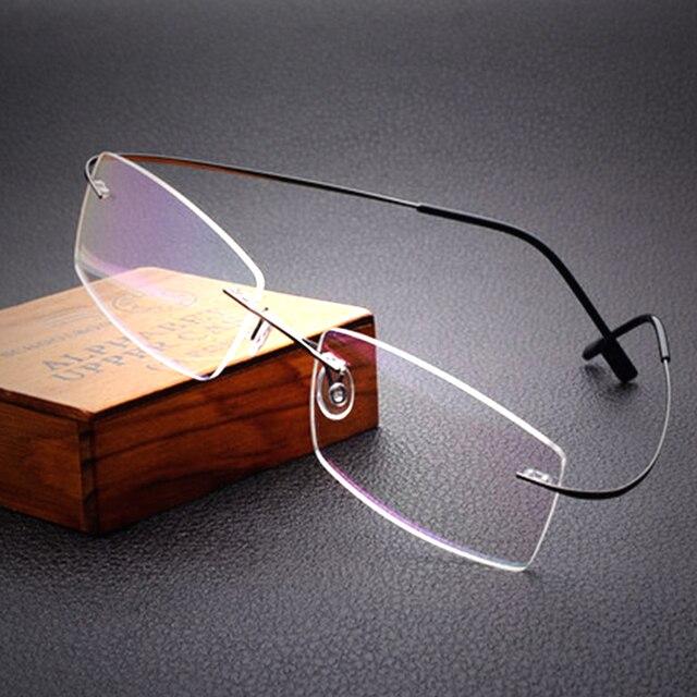 4eb9392ff2b7f0 Gratis verzending 100% pure titanium randloze merk brillen frames mannen  vrouwen optische frame brilmontuur eye