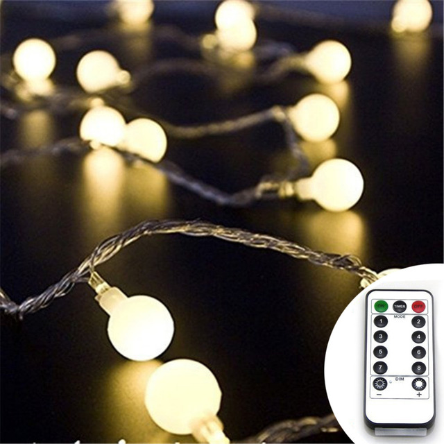 10m6m 100leds60leds 3aa battery operated halloweenchristmas lights led ball string