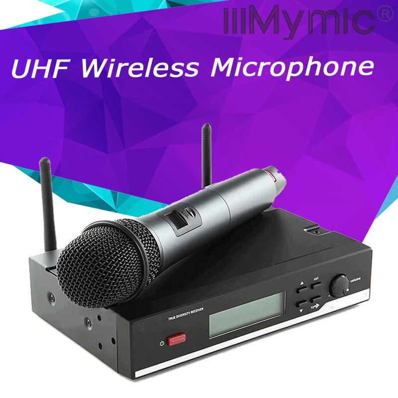 Prix pour 2.4G Véritable Diversité! professionnel UHF Sans Fil Système de Microphone Vocal Set Sans Fil Microfone Microfono Mic