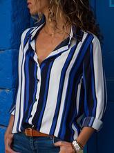 chic women blouse new female womens top shirt ladies winter striped fall festivals classics comfort elegance clothing