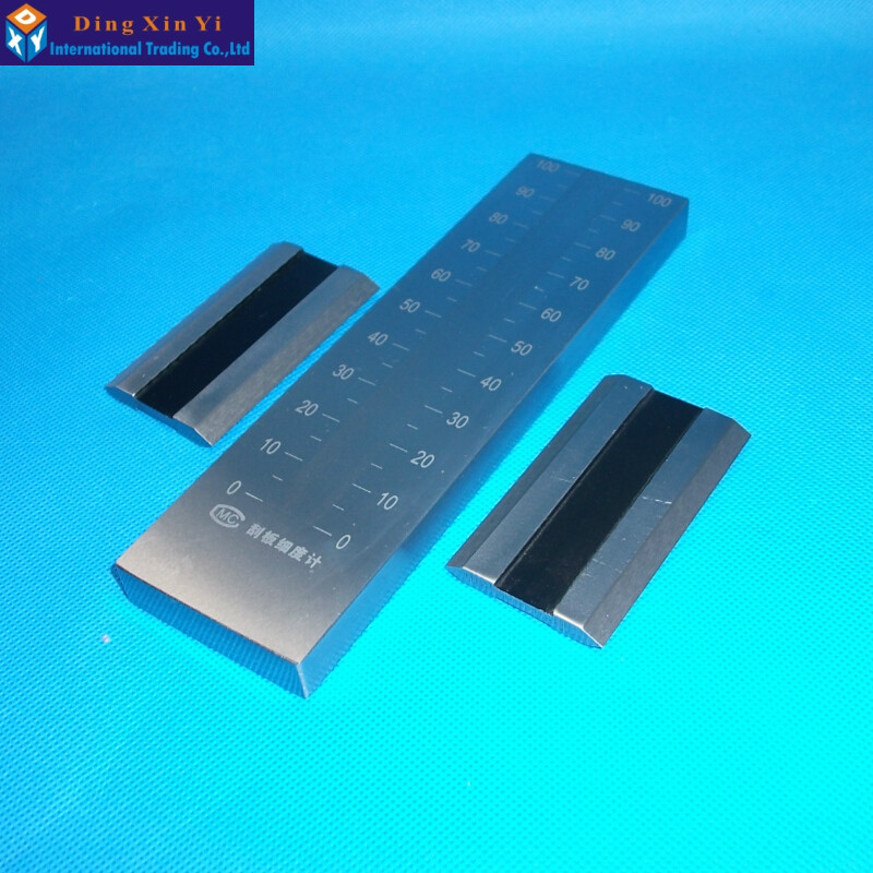 0-50um Stainless Steel single Groove fineness gage 25um/50um/100um/150um available Hegman fineness gauge