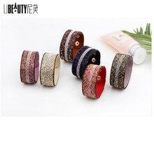 UBEAUTY Luxury Crystal Gravel Bracelet For Women 3 Row Fashion Charm Wristband Bijoux Bracelets & Bangles For Women Jewelry