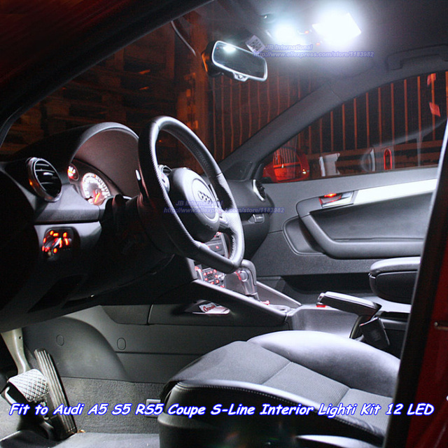 Car Canbus W5W C5W LED for Audi RS5 S5 A5 Coupe Interior light kit ...