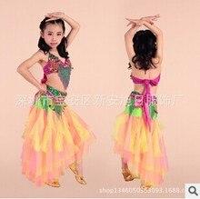 Newest Children belly dance costume set dress Bra&Belt&Skirt  3pcs/set for kids bellydance Wears Suits