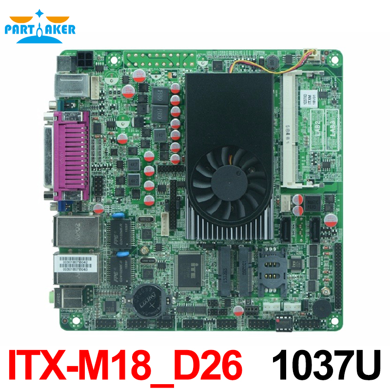 Intel 1037u dual core procrssor mini_itx industrial embedded motherboard with 8*USB/6*COM portwell robo 8712evg2a industrial motherboard dual network length of two usb p4 card