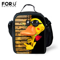 Cartoon Yellow Duck Kids Lunch Bag Zoo Animal Portable Package Pinic Food Container Lunch Box Insulated Lunch Boxes For Children