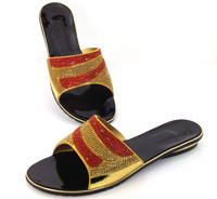 Wonderful Italian Shoes PU Material Women Pumps With Stone Newest African Sandals Wholesale 8 2 DD1