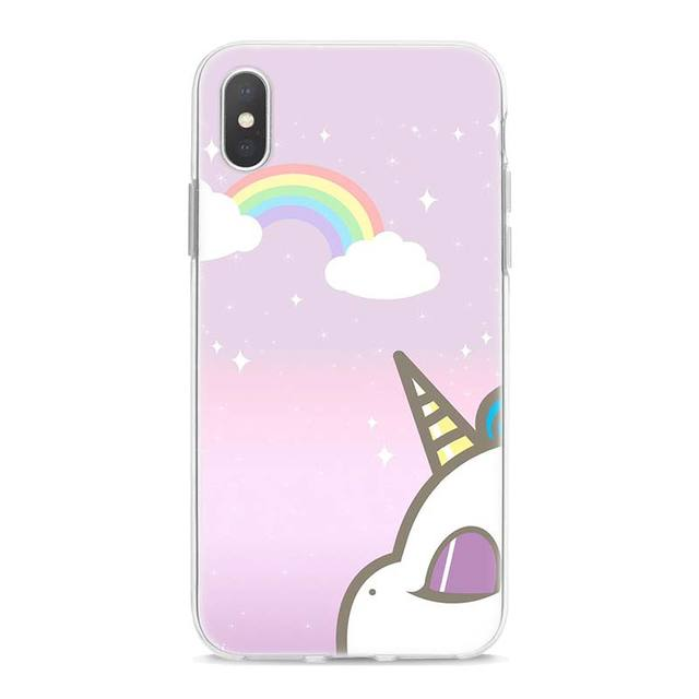 Unicorn Printed Soft Silicone Phone Case