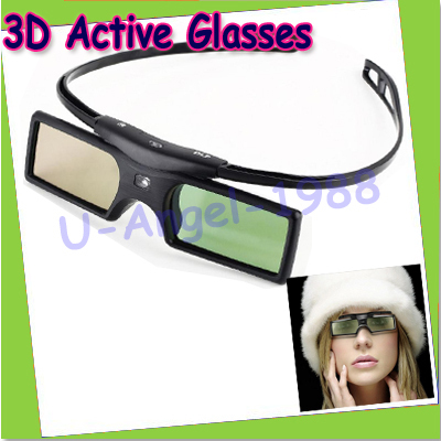 Free Shipping Gift Idea New Genuine Original 3D Active Shutter Glasses for DLP-LINK 3D Projectors