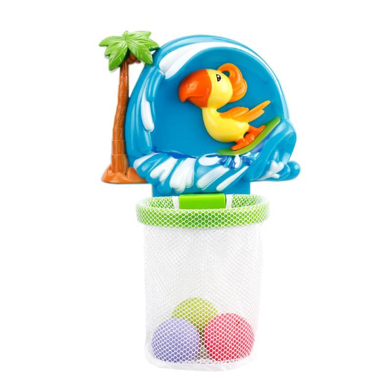 Baby Water Cooling Bath Tub Shooting Basketball Toy Swimming Pool Kids Play Educational Toys Cartoon Duck Pattern Bath Toy