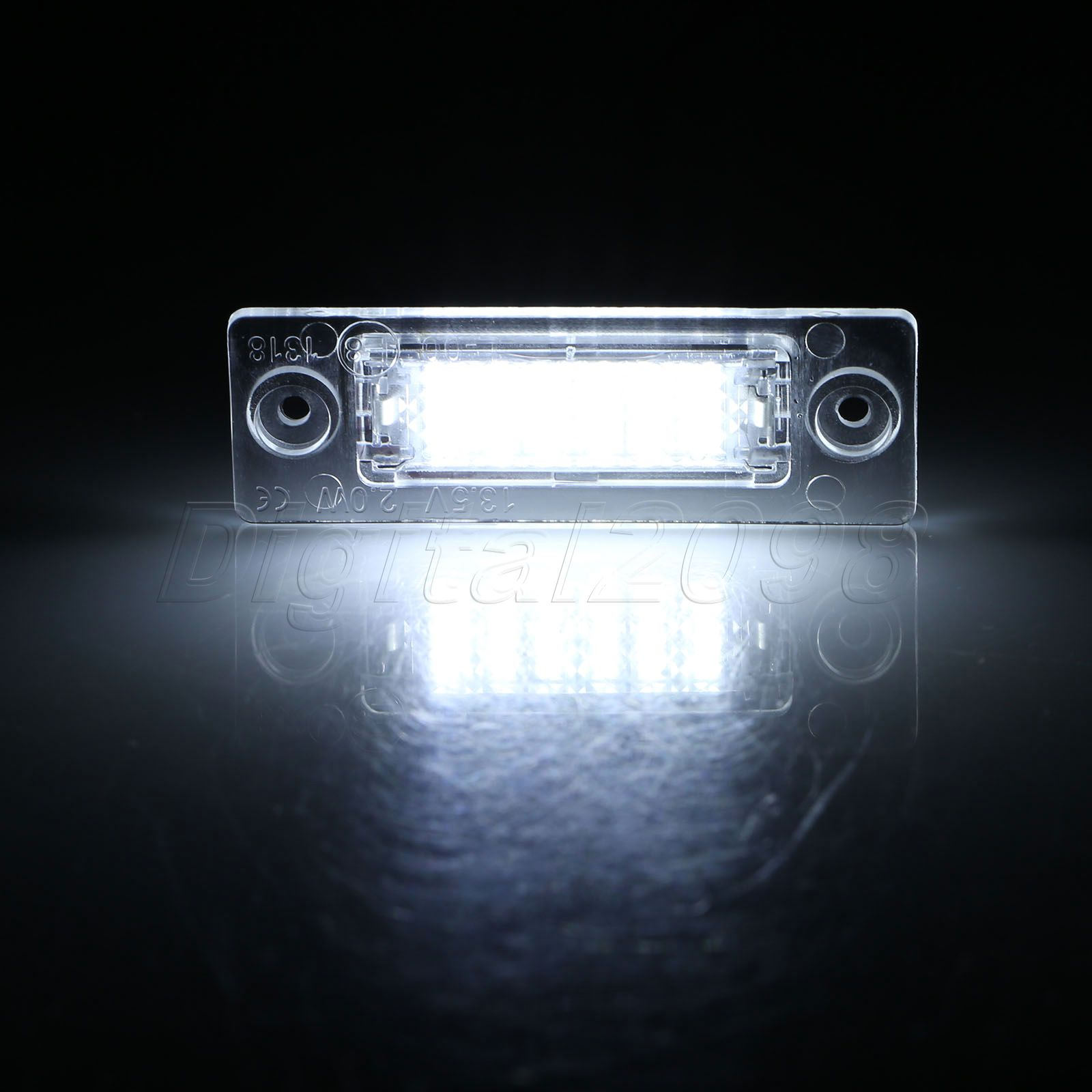 Yetaha 2x LED License Number Plate Light Bulb Lamp for VW Caddy Golf 5 Plus Jetta 5 Passat Touran Transporter T5 Skoda Superb lola rose ожерелье
