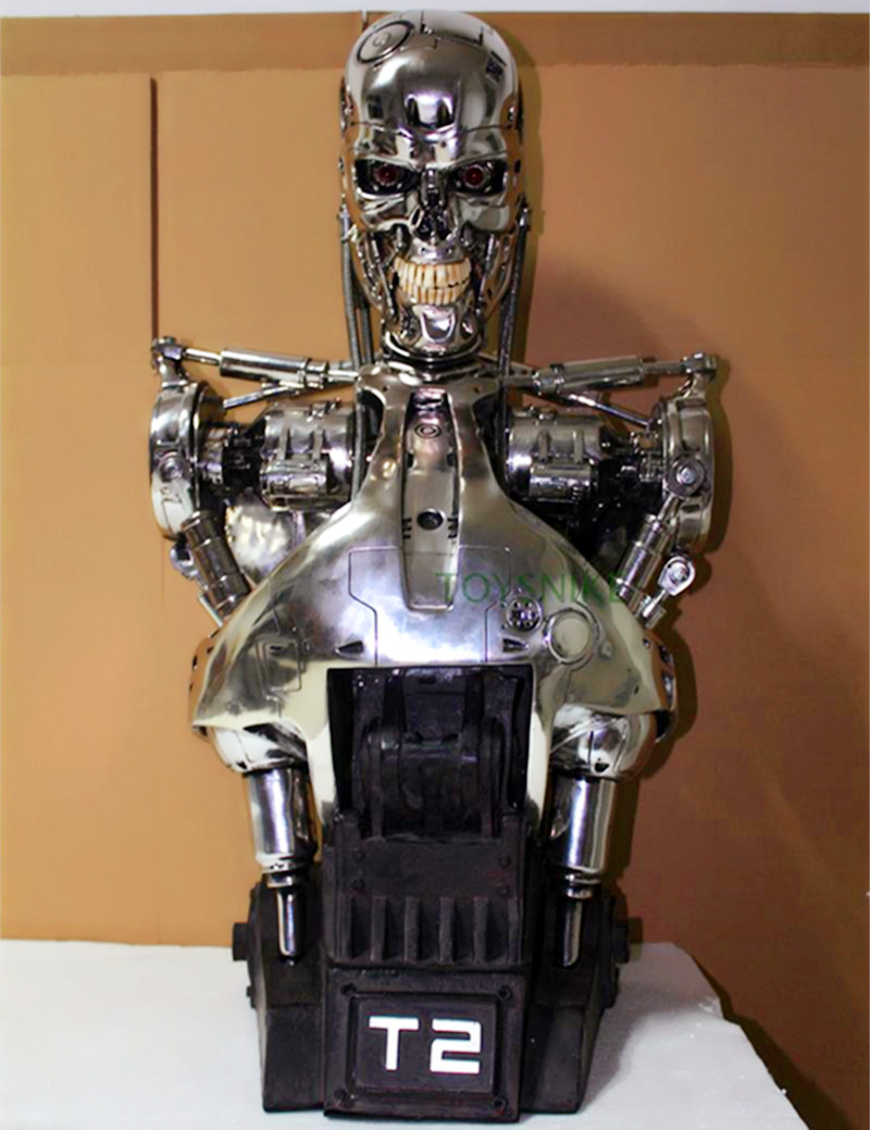 Orgrimmar OGRM 1 1 Resin Terminator T2 T800 bust font b figure b font statue skeleton