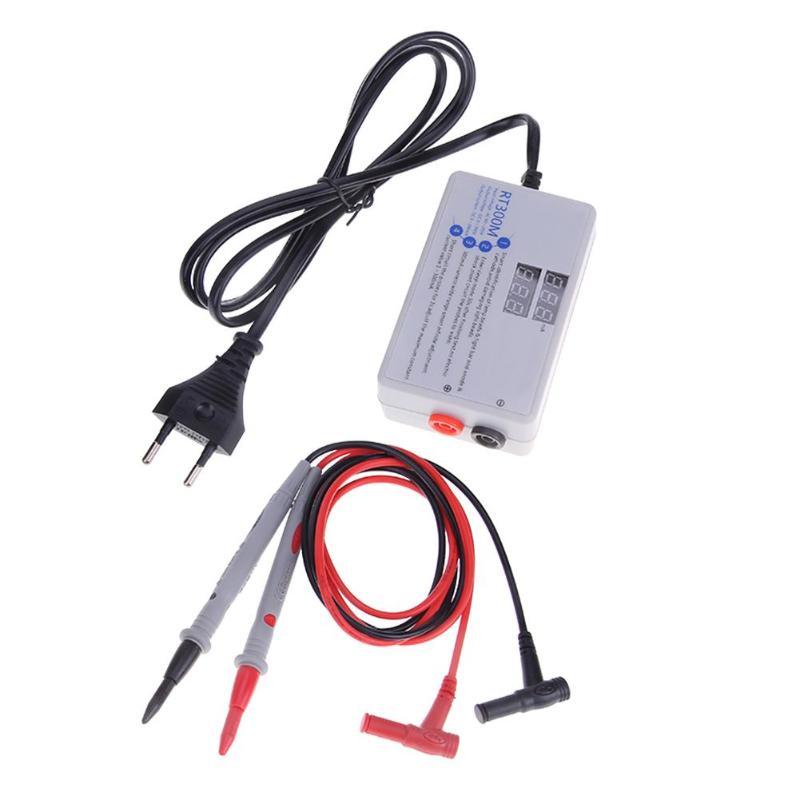 Rt300m LED Ultra Bright Backlight Smart Voltage Current Tester 300mA Digital LED Tester for Laptop AC 90-265V With Tester Pens