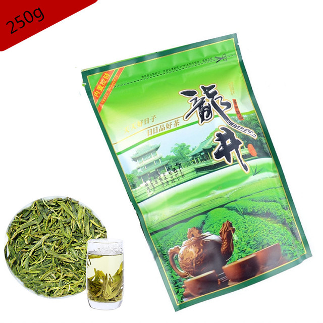 Spring 250g Green Tea Quality Longjing Tea For Health Care Lose Weight Down Three High Protect Teeth Famous Good Green Food