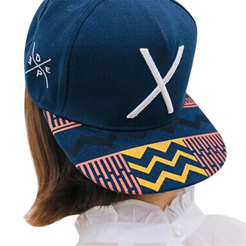 #5 Fashion 2018 New Hip-Pop Letter X Flat Hat Baseball Cap Hip-Hop Peaked Cap
