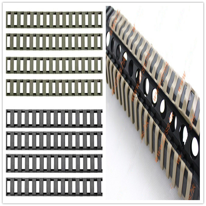 Цена за 18 слотов низкопрофильный железнодорожных обложки 4 шт./упак. черный для Handguard AR15 / M4