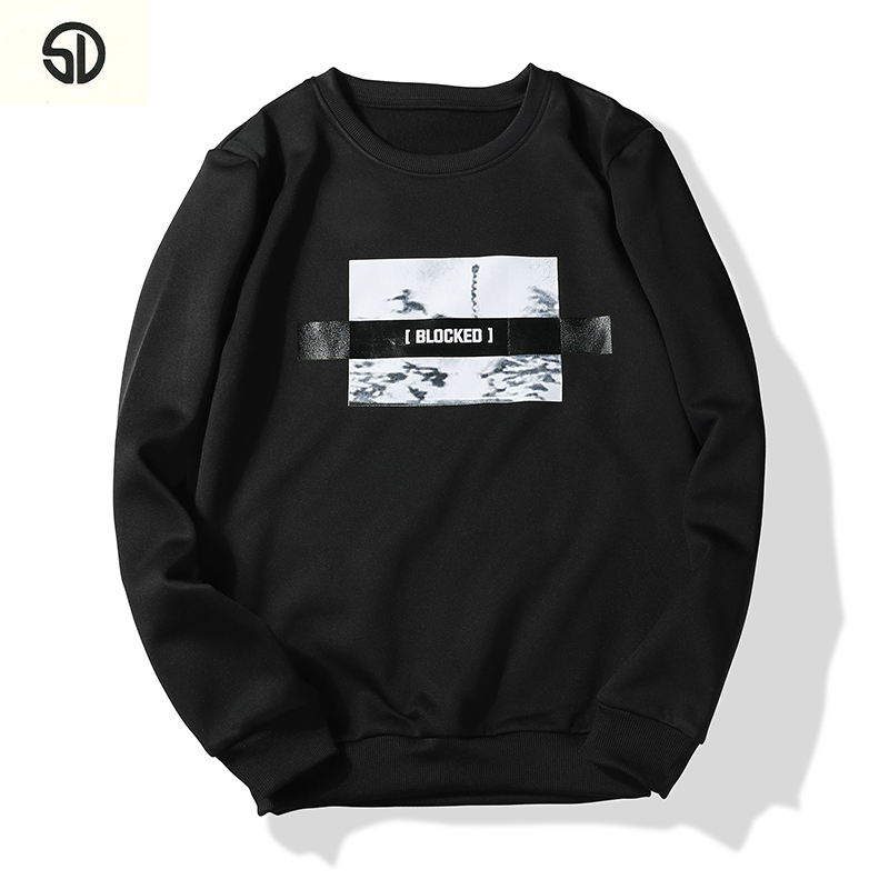 Men Hoodie Sweatshirt Moleton Velvet New Autumn Winter Men Sweatshirt Mens Hoodies Sweatshirts Cotton O Neck Brand Hip Hop 2018
