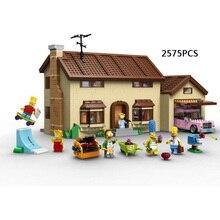 Classic American cartoon Simpsons House building block Homer Marge Bart Lisa Ned Flanders lepins bricks com legod 71006 toys