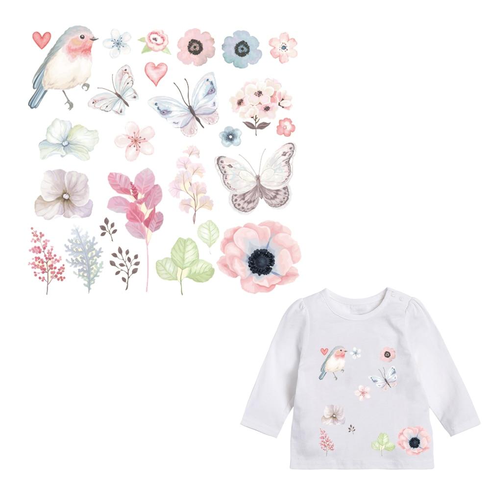 Патчи для детей одежда прекрасный цветок животных патч DIY аксессуар-уровень моющиеся теплообмена гладить Наклейки Аппликации