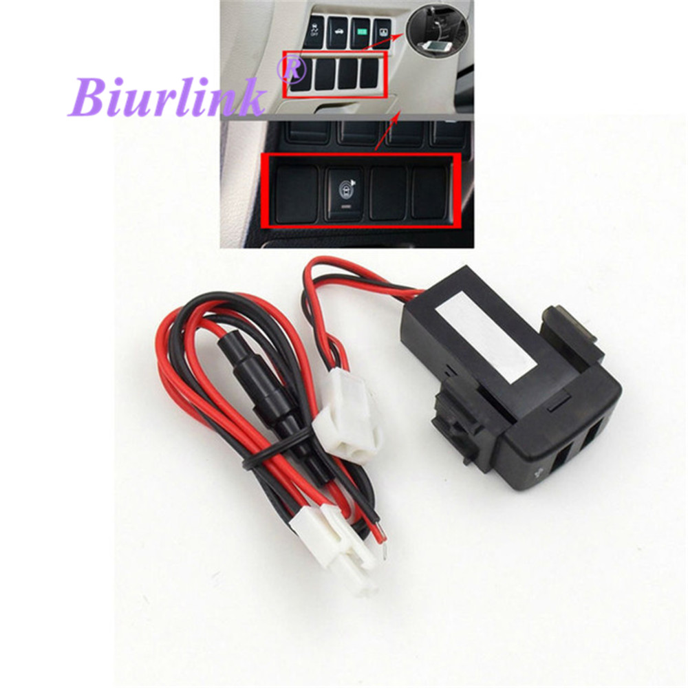 Biurlink Car Headunit External Media USB Port Plug Charger Charging Connector for Phone Tablet GPS for Nissan Teana Sylphy