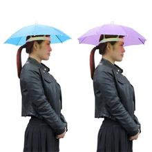 Hands free Umbrella Outdoor Sports Rain Gear Foldable Hat Cap Headwear for Fishing Hiking Beach Camping Head Hats