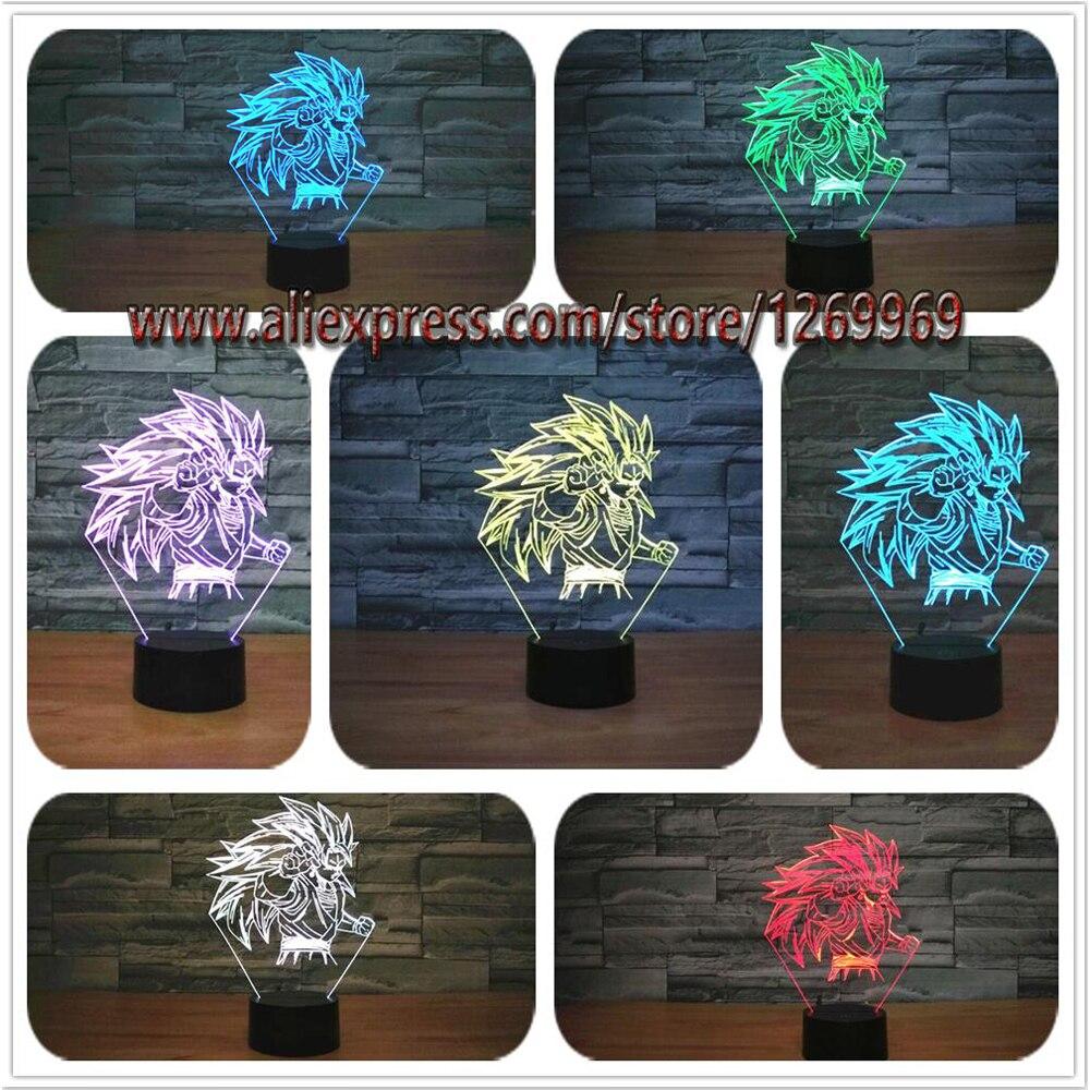 Great night lamps - New Dragon Ball Super Saiyan Monkey Son Goku 3d Table Lamp Luminaria Led Night Lights Lighting