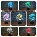 Nova Tabela de Dragon Ball Son Goku Super Saiyan Macaco 3D lâmpada Led Luminaria Night Lights iluminação Humor ilusão Lâmpada grande presentes