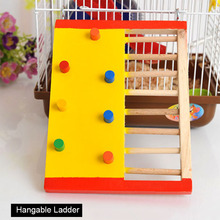 Natural Wooden Hamster Climbing Toy Ladder Small Animal for Squirrel Guinea Pig Pet Rat Toys