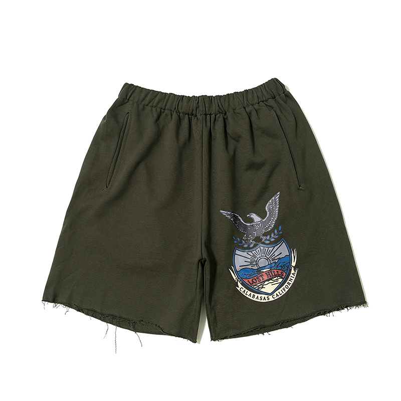 New Season 6 Shorts Men Sweatpants Kanye West Calabasas Eagle Season 6 Shorts Casual Cotton Streetwear Season 6 Beach Shorts